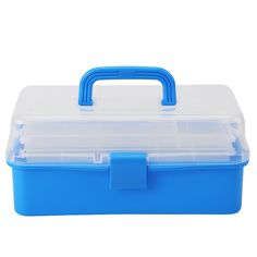 Blue CC27508-3 Bulk Buy: Viewtainer 6-Pack Storage Container 2.75in x 8in