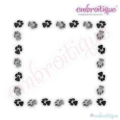 Puppy Paws Font Frame - 11 Sizes! | What's New | Machine Embroidery Designs | SWAKembroidery.com Embroitique