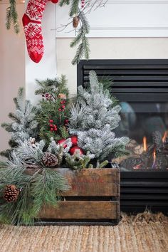 christmas porch decorations rustic christmas crafts diy christmas arrangements fire place christmas decor - Wooden Box Christmas Decorations