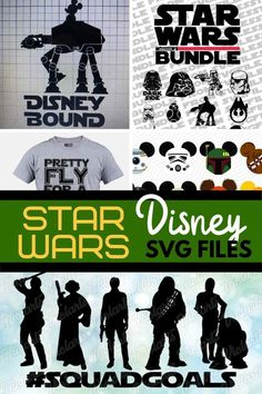 Going to Star Wars Land? DIY your Star Wars Disney outfits with these Star Wars svg files - make matching Disney t-shirts, Mickey ears, and autograph books with these BEST Star Wars svgs #smartfundiy #disney #disneyland #starwarsland #starwars