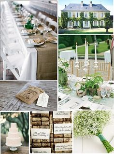 Vineyard wedding theme