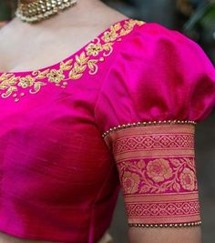 blouse designs back neck Bluse entwirft Hals Why we Need to Take Risks It does not matter if you are Pattu Saree Blouse Designs, Stylish Blouse Design, Fancy Blouse Designs, Designs For Dresses, Bridal Blouse Designs, Blouse Back Neck Designs, Latest Blouse Designs, Pink Blouse Design, Saree Blouse Patterns