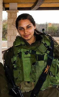Female Israeli soldier.