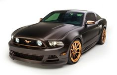 """This 2013 custom built Ford Mustang GT/CS 6 Speed - known as """"High Gear"""" - is loaded with the best items available, including an Edelbrock E-Force Mustang 5.0L supercharger, MagnaFlow exhaust, H springs, Whiteline suspension, Moser rear end, Wilwood brakes, Kicker stereo, and much more. It rolls on 20-inch Forgeline RB3C Concave wheels with a custom Rose Gold finish. See more at: http://www.forgeline.com/customer_gallery_view.php?cvk=701"""