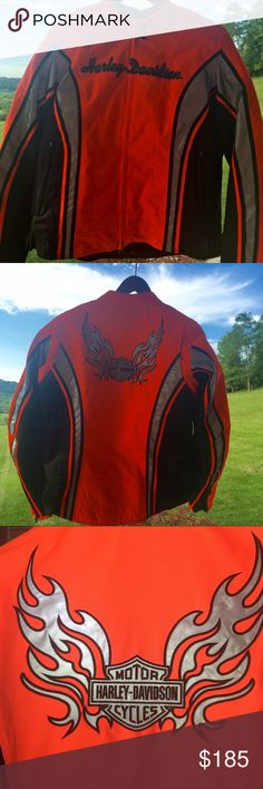 Harley Davidson High-Visibility Riding Jacket Brand new without tags, Women's XL, body armor, mesh for added ventilation, reflective material, husband bought it as a gift and it hasn't been worn. Beautiful riding jacket! Harley Davidson  Jackets & Coats
