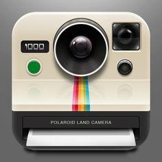 Watch A Polaroid App Icon Process Video by Brandon Williams, via Behance