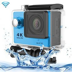 Professional Product Easy to Use H9 4K Ultra HD1080P 12MP 2 inch LCD Screen WiFi Sports Camera, 170 Degrees Wide Angle Lens, 30m Waterproof ( Color : Blue ). The World's Most Versatile Camera. 1. Brand new and high quality. 2. 2 inch LTPS LCD Screen. 3. Wi-Fi Remote Control. 4. 4K Ultra-HD definition.