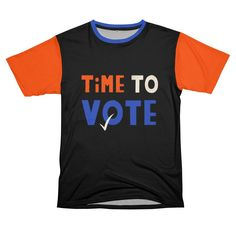 Time to vote | Gabi Toma's Artist Shop Lower Case Letters, Funny Quotes, Lettering, Sewing, Artist, Mens Tops, T Shirt, Shopping, Funny Phrases