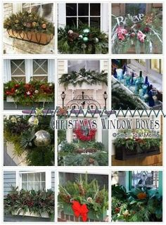 93 best Christmas window boxes images on Pinterest in 2018 ...