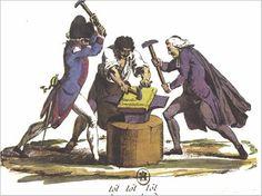 Caricatura sobre a Constitución de 1791