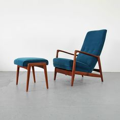 Mid Century Lounge Chair & Ottoman by Gio Ponti - Cassina 60s | Teak Sessel 60er in Antiques, Antique Furniture, Sofas/ Chaises, 20th Century | eBay