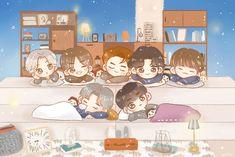 Fantastic Art, Youngjae, Bambam, Got7 Fanart, Kpop Fanart, Cute Chibi, Jackson Wang, Fern, Scribble