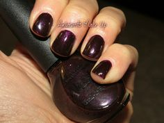 Nicole By OPI - Shoot for the Maroon - Beautiful color #maroon #opi -bellashoot.com #bellashoot