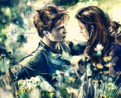 Edward and Bella in their meadow  By: Alicexz