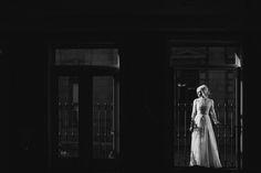 bride + dramatic lighting