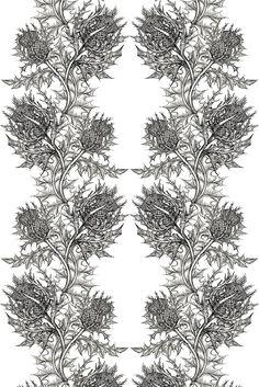 Timorous Beasties Fabric - Thistle Fabric