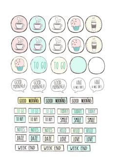 Free printable stickers for planner - Paper and Needle