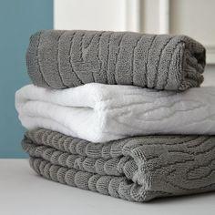 Organic Woodgrain Towel | west elm  MUST HAVE! wood grain patterned towels!!!!