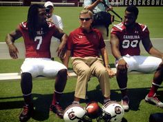 Clowney, Coach Spurrier and Sutton