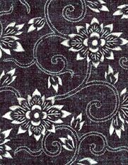 Katazome These fabrics are produced with stencils. Rice paste is pressed thro Japanese Quilts, Japanese Textiles, Japanese Kimono, Shibori, Asian Quilts, Textile Texture, Textile Prints, Kimono Design, Japanese Flowers