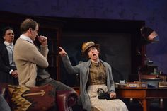 Irene Lucio, Anthony Fusco and Catherine Castellanos at the Pygmalion dress rehearsal. Photo by Jay Yamada.