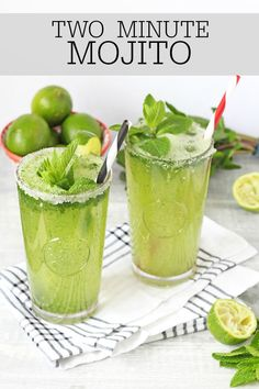 Whip up a Mojito cocktail in just two minutes! Perfect for long summer evenings! | My Fussy Eater Blog