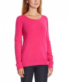 This Fuchsia Scoop Neck Sweater is perfect! #zulilyfinds