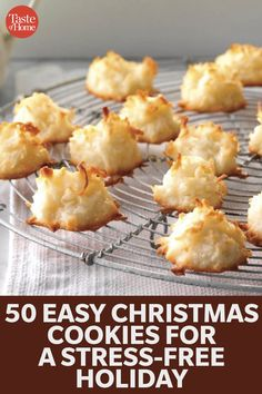 50 Easy Christmas Cookies for a Stress-Free Holiday