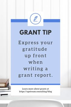 """Make sure your funder knows how much you appreciate them by including a heartfelt """"thank you"""" at the beginning of your grant reports. Click through to read more helpful grant report writing tips. Grant Proposal Writing, Grant Writing, Writing Tips, Volunteer Gifts, Volunteer Appreciation, Fundraising Events, Fundraising Ideas, School Staff, Sunday School"""