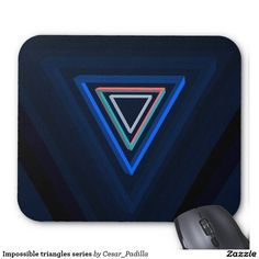 Impossible triangles series mouse pad