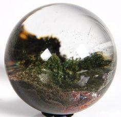 Phantom quartz rock crystal sphere by Rikoo