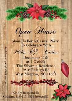 Christmas Open House.Pinterest