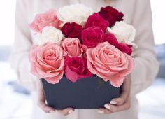 DIY box of roses