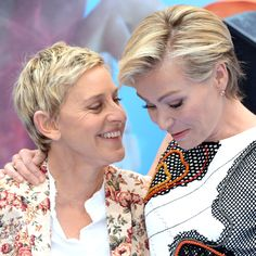 Ellen DeGeneres had the loving support of wife Portia de Rossi at the UK premiere of her latest film, Finding Dory.