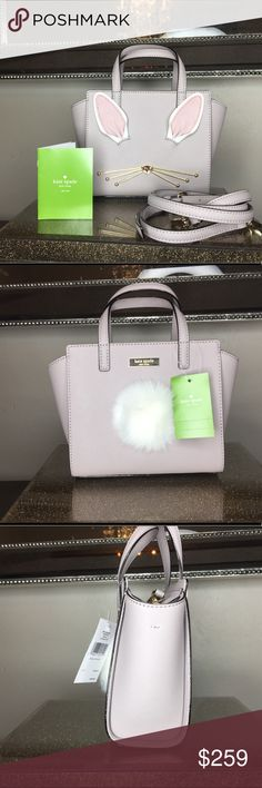 Kate spade hop to it rabbit mini Hayden New with tags  100% authentic Kate spade Crosshatch leather  Coro is nouvxneutr(150) Hardware is yellow gold plated H6 xL7 x D 2.5 Comes with strap for Crossbody option. kate spade Bags Crossbody Bags