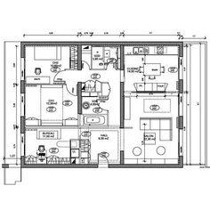 Plan de l'appartement de 100 m2 après la restructuration d'Isabelle Marion.