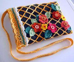 Sidney Artesanato: Bolsas de crochet sempre chique