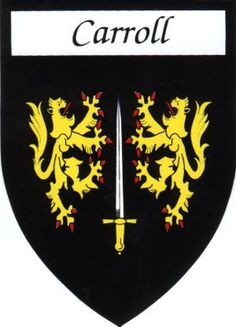 Carroll means valorous in battle http://paddywhackery.ie/products-page/irish-family-name-sticker/carroll-irish-family-name-sticker/