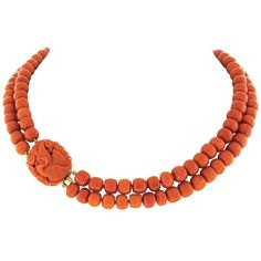 Preowned Natural Coral Necklace ($2,800) ❤ liked on Polyvore featuring jewelry, necklaces, beaded necklaces, red, long necklace, red necklace, coral necklace, long boho necklace and long beaded necklace