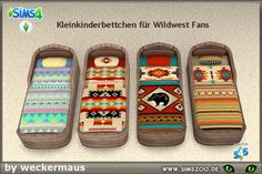 Ethnic beddings for your toddler beds by weckermaus. Details and download at the Simszoo (free registration required) Find this and a lot more at the Simszoo! Need help with registration? Have a look here! If you play Sims 3 and/or Sims 2, too, why...