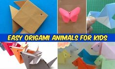 Easy Origami Animals for Kids