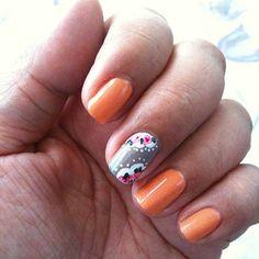 Cath Kidston-inspired nails. May 27, 2013. #ManicureMonday #manicure #nails #nailpolish #nailart