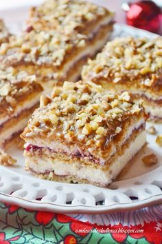 Polish Desserts, Polish Recipes, Cake Recipes, Dessert Recipes, Christmas Cooking, Delicious Desserts, Cupcake Cakes, Good Food, Food And Drink