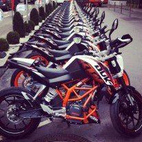 Ktm Duke 390cc at the paris expo . i jus love dis ktm bikes!!!