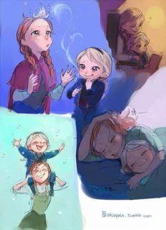 If Anna had been the older sister Elsa This is so cute xD Frozen Disney, Film Disney, Frozen Movie, Disney Fan Art, Disney Magic, Anna Y Elsa, Frozen Elsa And Anna, Cute Disney, Disney Girls