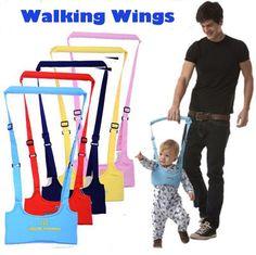 Seguridad infantiles del niño arneses 1 unids encargado del cabrito del bebé de aprendizaje ayuda para caminar asistente Walkers correa ajustable 6-24 meses YYT174