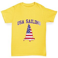 Twisted Envy USA Sailing Boys Yellow TShirt Age 56 >>> You can find out more details at the link of the image.(This is an Amazon affiliate link and I receive a commission for the sales)