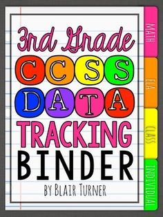3rd Grade Common Core Data Tracking Binder {EDITABLE!} - everything you need to organize important data and monitor student progress throughout the year $