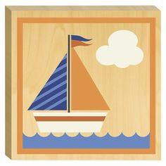Birch Flushmount - Sailboat - Nursery Art - Wall Decor- @ Target