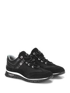 PACIOTTI 4US - Sneakers - Uomo - Sneaker in camoscio, pelle e tessuto tecnico con logo su lato esterno e suola in gomma extra light. Tacco 30, platform 20 con battuta 10. - BLACK